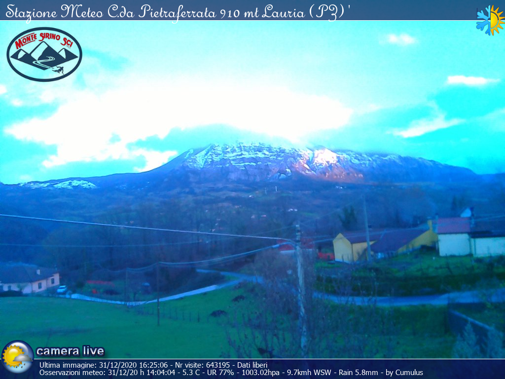 Webcam Monte Sirino